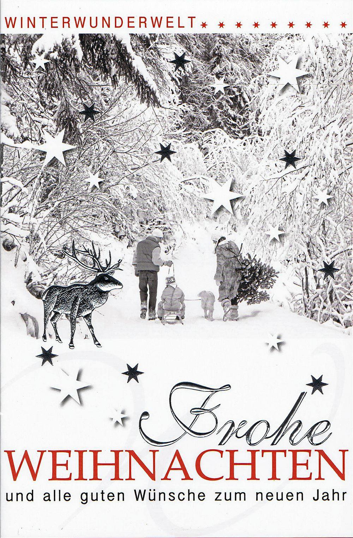 Weihnachtskarte - Winterwunderwelt
