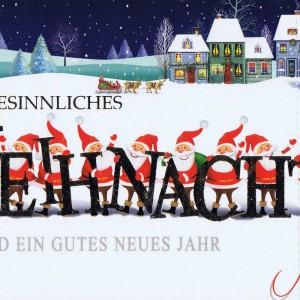 Weihnachtskarte - Weihnachtsmänner