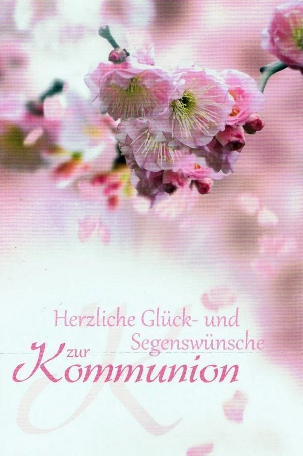 Glückwunschkarte zur Kommunion - Japanische Kirschblüte KO190
