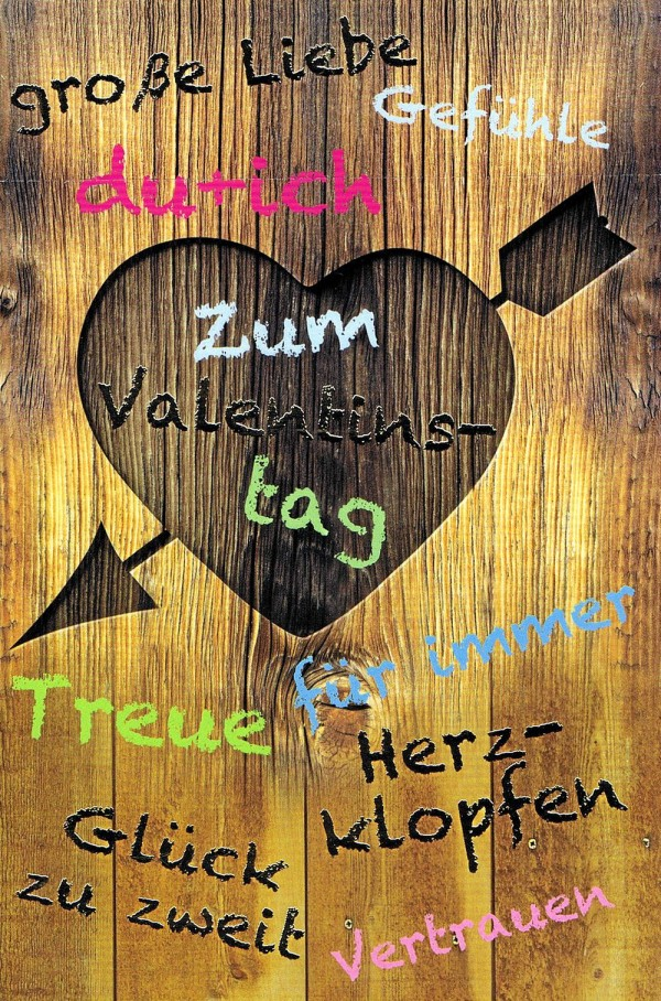 """Karte zum Valentinstag """"Große Liebe"""" - Folienprägung"""