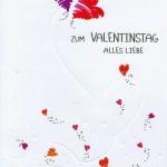 Hochwertige Karte zum Valentinstag in Gold- und Reliefprägung