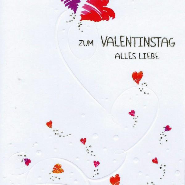 Hochwertige Karte Zum Valentinstag In Gold  Und Reliefprägung