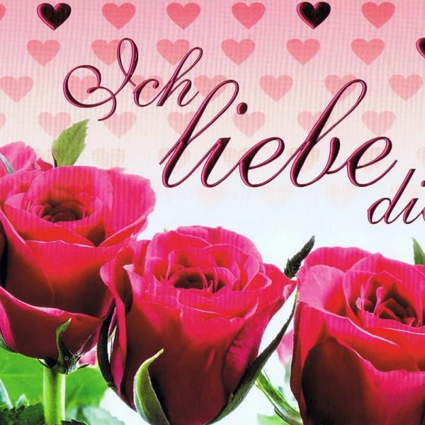 Karte zum Valentinstag - Ich liebe dich!