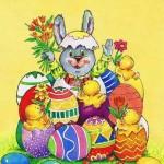 Lustige Osterkarte für Ostergrüsse 201002, Ein frohes Osterfest