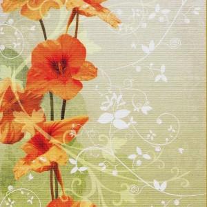 Neutrale Grußkarte mit Blumenmotiv ohne Text für viele Anlässe