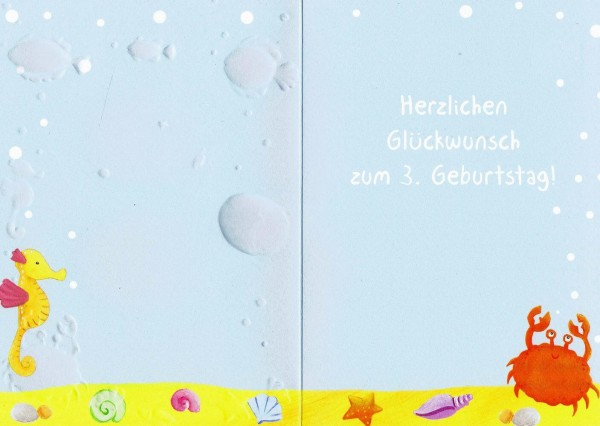 Märchenhaften Geburtstag - 3 - Happy Birthday - Geburtstagskarte mit Zahlen