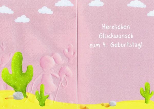 Geburtstag - 4 - Happy Birthday - Geburtstagskarte mit Zahlen