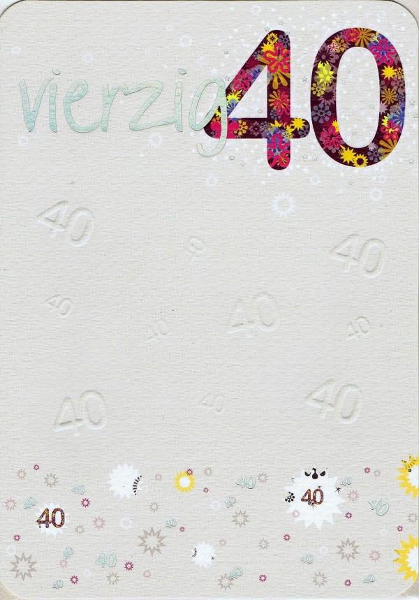 Geburtstagskarte zum 40.