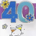 Geburtstagskarte - 40 - Herzlichen Glückwunsch