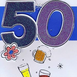 Geburtstagskarte - 50 - Herzlichen Glückwunsch