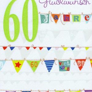 Geburtstagskarte - 60 - Herzlichen Glückwunsch
