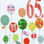 Geburtstagskarte Gratulation zum 65.