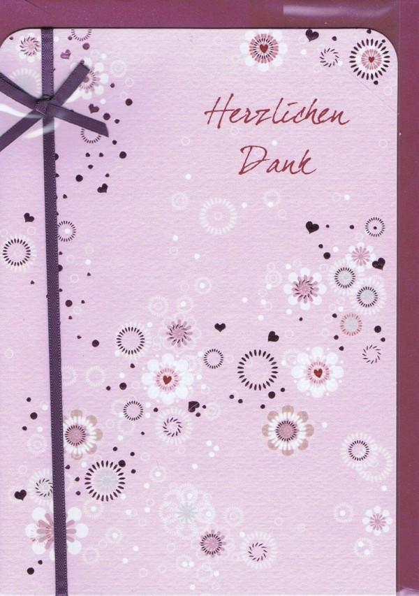 """Karte """"Herzlichen Dank"""""""