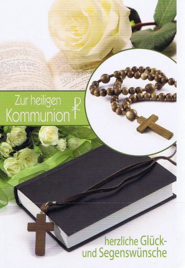 Glückwunschkarte zur heiligen Kommunion XKO123