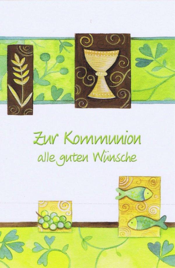 Glückwunschkarte zur heiligen Kommunion XKO110