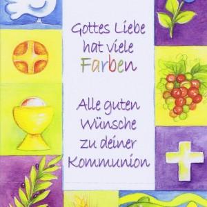 Glückwunschkarte zur heiligen Kommunion XKO114