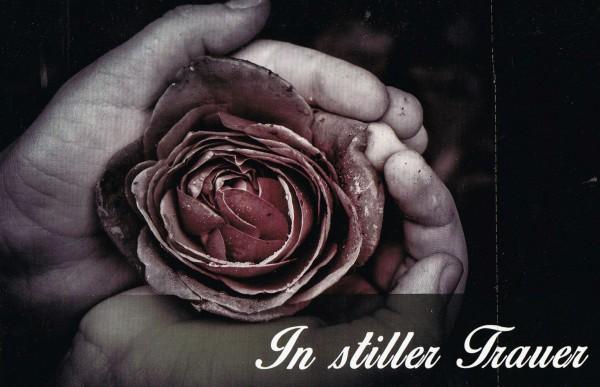 Trauerkarte mit dezentem Fotomotiv