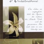 Beileidskarte mit Kondolenzspruch