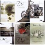 Danksagungen - 6 Karten mit Umschlag