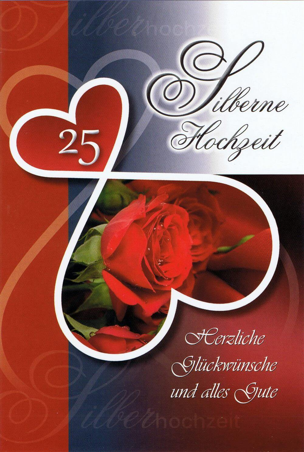 Glückwunschkarte zur silbernen Hochzeit - Kartenwichtel.de