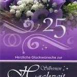 Glückwunschkarte zur silbernen Hochzeit