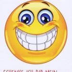 Geburtstagskarte Emotionen schönstes Lächeln