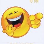 Geburtstagskarte Emotionen Lachen