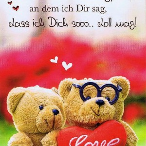 Valentinstag wunderbarer Tag - Karte mit Folienprägung