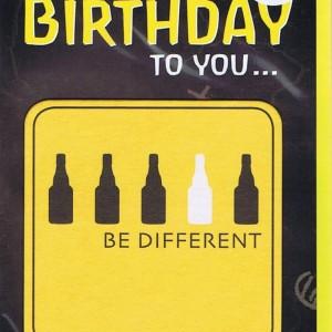 Geburtstagskarte für Männer mit Bierdeckel abnehmbar