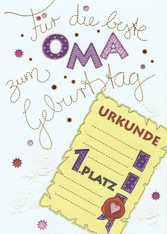 Karte Patchwork Für Die Beste Oma Zum Geburtstag Kartenwichtelde