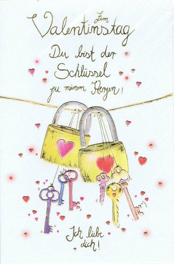 Valentinstag Skorpion's art - Du bist der Schlüssel zu meinem Herzen
