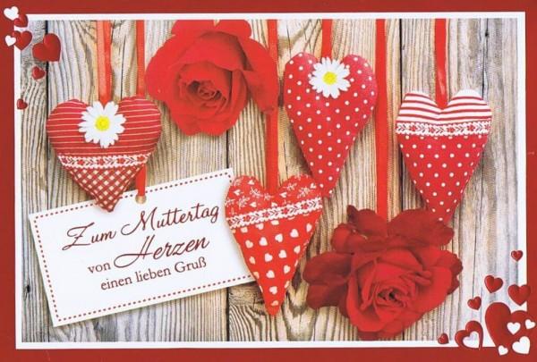 Karte zum Muttertag - Von Herzen einen lieben Gruß
