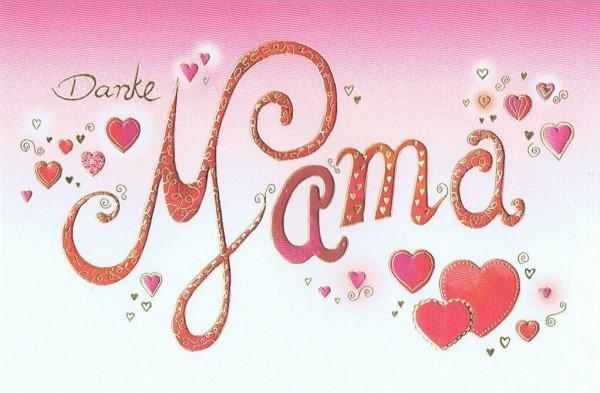 Karte Skorpion's Art zum Muttertag - Danke Mama
