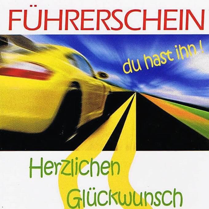 Führerschein, Neues Auto